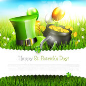 St. Patrick's Day greeting card — Vettoriale Stock