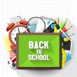 Stock Vector: Back to school illustration