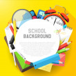 School flat design background — Vector de stock