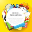 School flat design background — Stock vektor