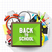 Back to school illustration — Stock Vector