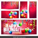Big set - birthday banners — Stock Vector