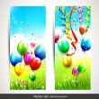 Stock Vector: Birthday banners