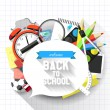 Stock Vector: Back to school background