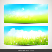 Spring banners — Stock Vector
