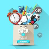 Back to school sale — Stock Vector