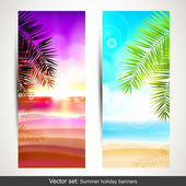 Summer holidays banners — Stock Vector