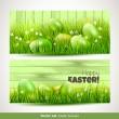 banderas de Pascua — Vector de stock