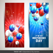 Independence day banners — Stok Vektör