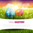 Easter greeting card — Stockvektor