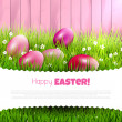 Pink Easter background with copyspace — Vector de stock