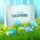 Easter greeting card — Vector de stock