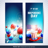 Independence day banners - Vector set — Vector de stock