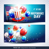 Independence day banners - Vector set — Stock Vector