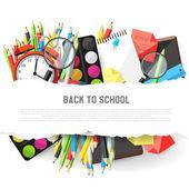 School background — Stock Vector