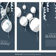 Flat Birthday banners — Stock Vector #45707487