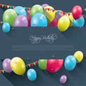 Sweet birthday background — Stock Vector