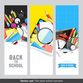 School banners — Stock Vector