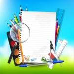 School background — Stock Vector #49321211