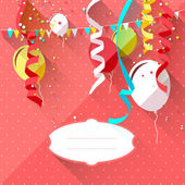 Sweet birthday background — Stock Vector