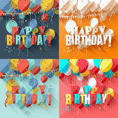 Birthday greeting cards  — Stock Vector