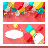 Sweet birthday banners — Vector de stock