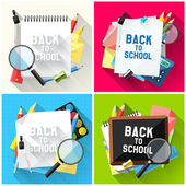 Back to school backgrounds — Stock Vector