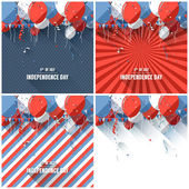 Flat style Independence day backgrounds — Stock Vector