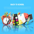 Back to school background — Stock Vector #50570073