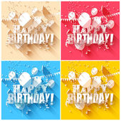 Geburtstag-hintergründe — Stockvektor