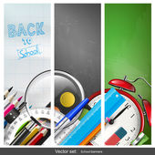 Back to school banners — Stock Vector