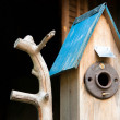 Cottage Birdhouse — Stock Photo