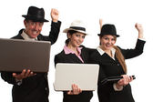 Computer business Gangnum style — Stock Photo