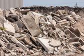 Concrete recycling — Stock Photo
