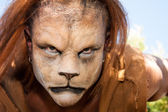 Lion Man meancing close up — Stock Photo