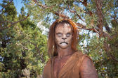Wild Lion Man in forest — Stock Photo