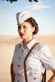 WWII Nurse portrait — Stock Photo