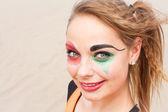 Close-up di circo femminile giovane esecutore — Foto Stock