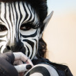 Beautiful Zebra Woman — Stock Photo