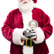 Santa with Vintage camera — Stock Photo