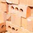 Stock Photo: Pile of red bricks