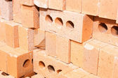 Pile of red bricks — Stock Photo
