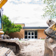 Local School construction — Stock Photo