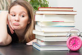 Too much study — Stock Photo