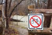 Spring river flooding — Stock Photo