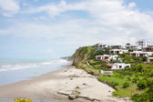 Jama oceanfront terraced community — Stock Photo