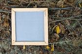 Blank frame notepad — Stock Photo