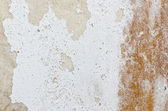 Old rusty damage white wall — Foto Stock