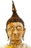 Buddha head isolated — Stock Photo