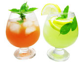 Punch cocktail drinks with fruit — Stock Photo